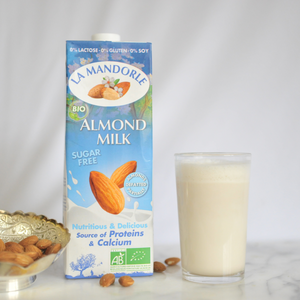 almond milk glass