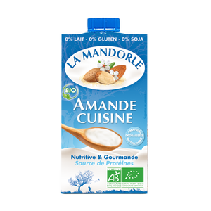 vegan almond cooking cream la mandorle jadon