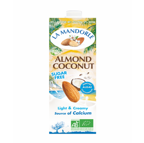 la mandorle organic almond and coconut milk 1 litre