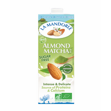 Load image into Gallery viewer, la mandorle organic almond milk with japanese matcha
