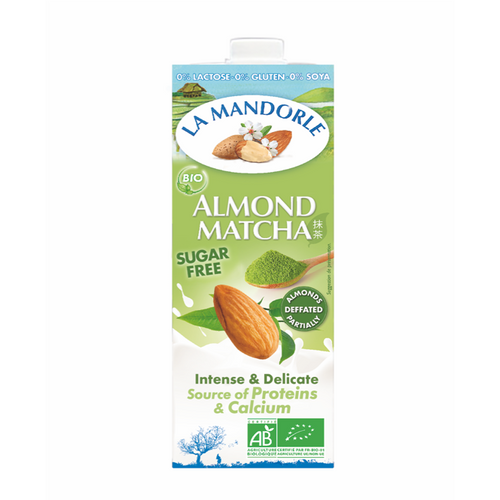 la mandorle organic almond milk with japanese matcha