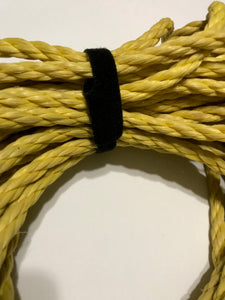 grap double sided hook and loop grapped around nylon boating line