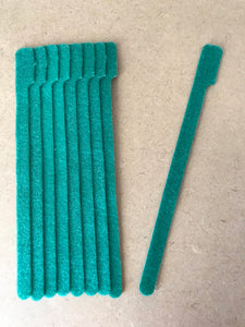 grap double sided hook and loop size long green