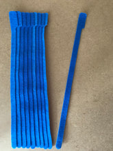 Load image into Gallery viewer, 10 pieces of X-Long blue grap is pictured. grap is double-sided hook and loop used to craft, organize, and problem-solve in the home, garage, rv, boat, and craft room! choose color yellow, blue, orange, green, red and black