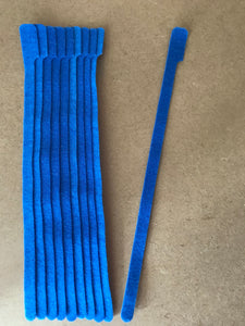 10 pieces of X-Long blue grap is pictured. grap is double-sided hook and loop used to craft, organize, and problem-solve in the home, garage, rv, boat, and craft room! choose color yellow, blue, orange, green, red and black