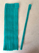 Load image into Gallery viewer, 10 pieces of X-long green grap is pictured. grap is double-sided hook and loop used to craft, organize, and problem-solve in the home, garage, rv, boat, and craft room! choose color yellow, blue, orange, green, red and black