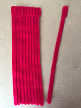 Load image into Gallery viewer, 10 pieces of X-long red grap is pictured. grap is double-sided hook and loop used to craft, organize, and problem-solve in the home, garage, rv, boat, and craft room! choose color yellow, blue, orange, green, red and black