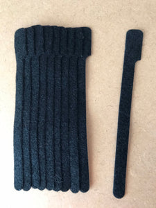 10 pieces of medium BLACK grap is pictured. grap is double-sided hook and loop used to craft, organize, and problem-solve in the home, garage, rv, boat, and craft room! choose color yellow, blue, orange, green, red and black
