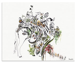 Zebra Painting - Liz Kapiloto Art & Design