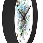 Side view of a black round clock  - Liz Kapiloto Art & Design