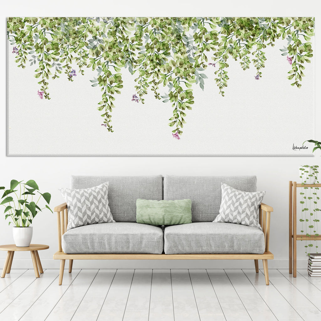 Green Leaves - Large Canvas - Liz Kapiloto Art & Design