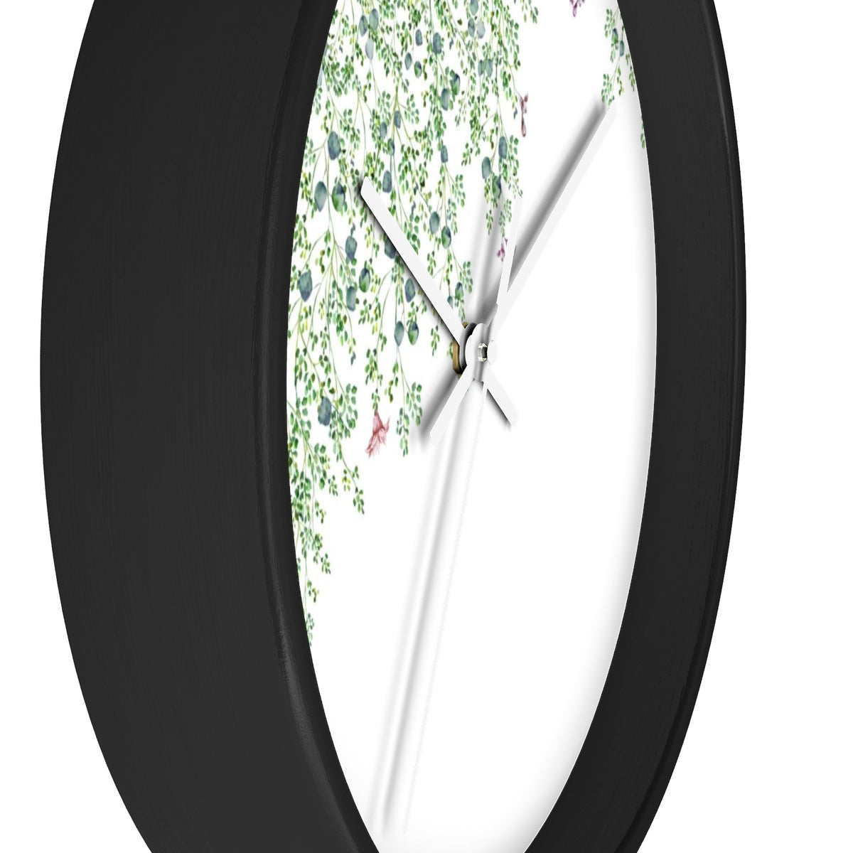 black and green clock - side view