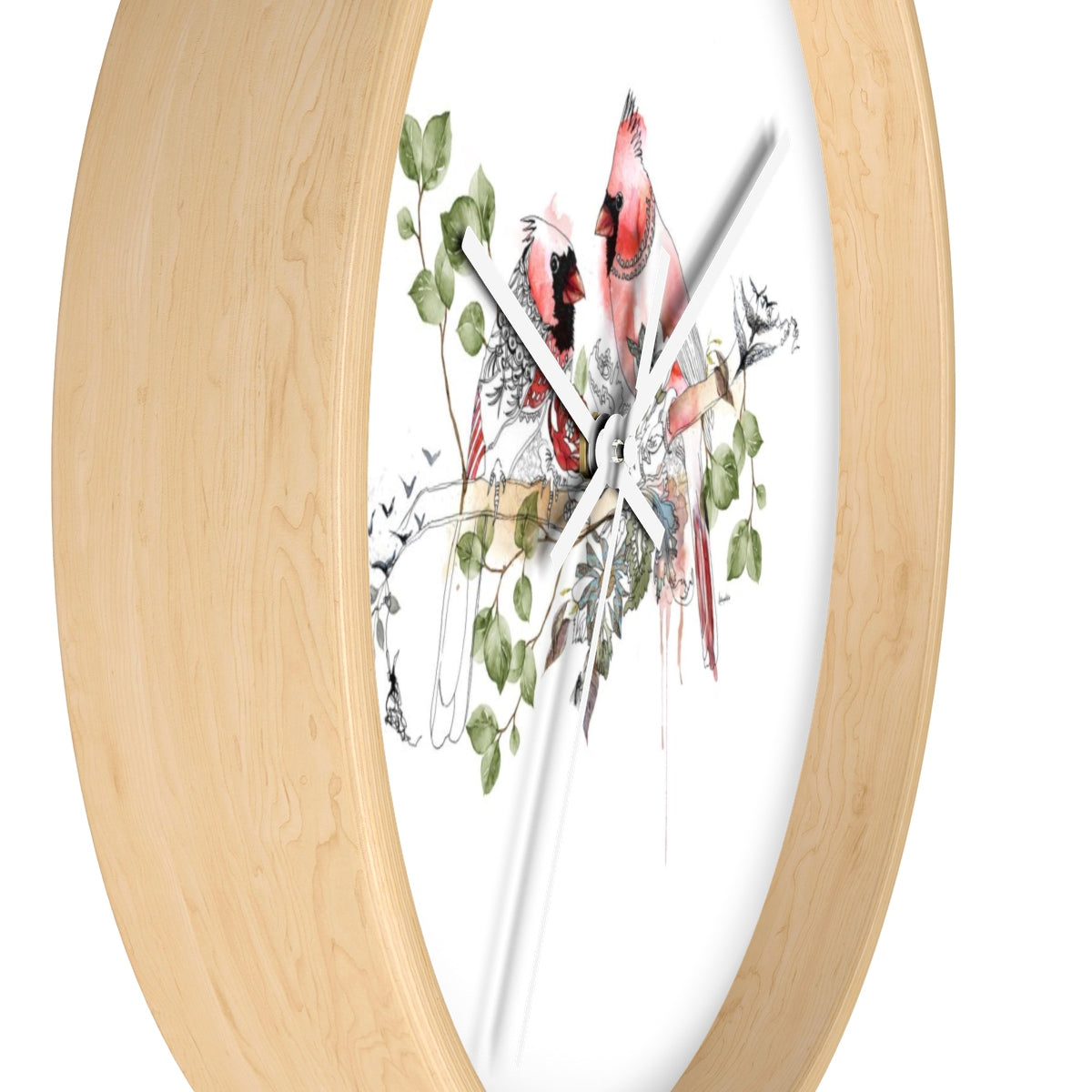 Cardinals Clock - Liz Kapiloto Art & Design