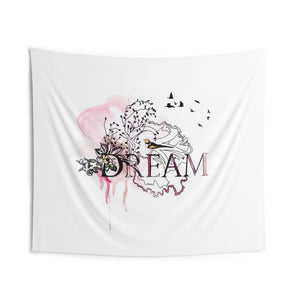 Dream typography artwork - wall tapestry