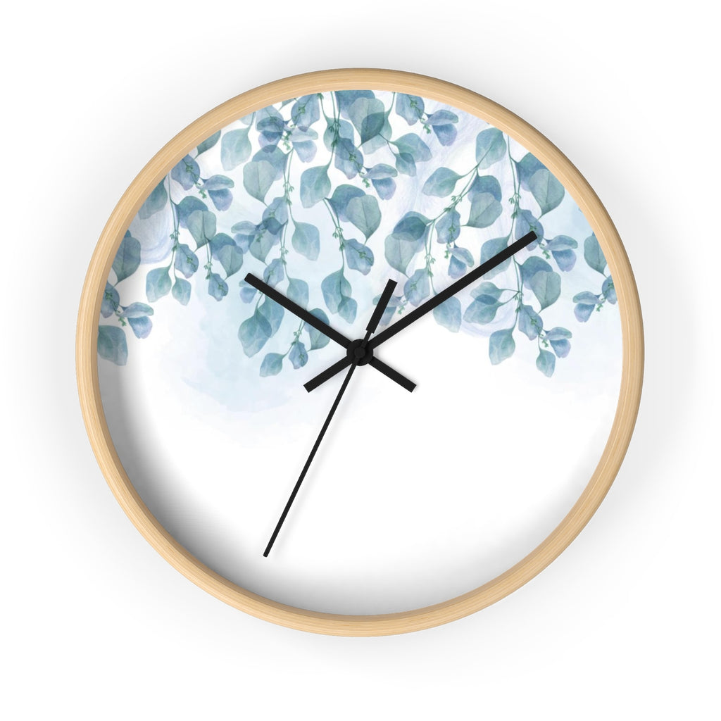 Blue Leaves Wall Clock - Liz Kapiloto Art & Design