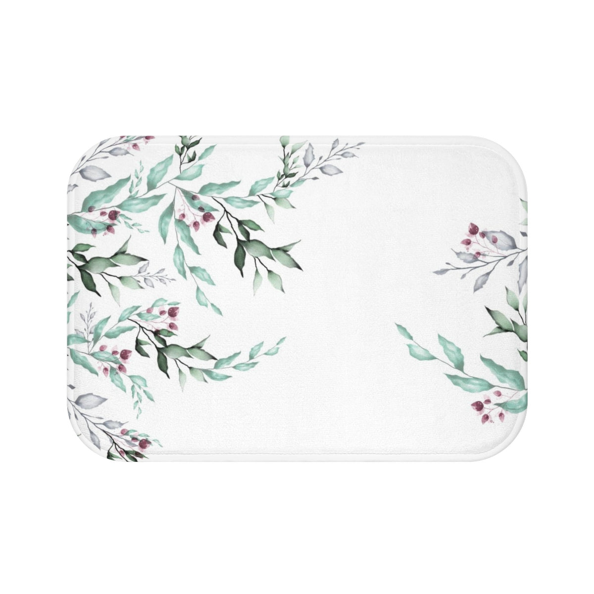 Leves Floral Bath Mat - Liz Kapiloto Art & Design
