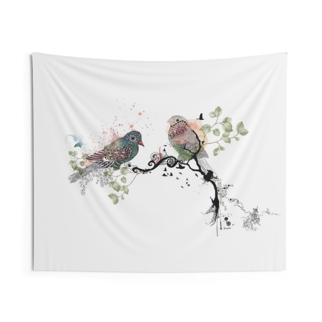 Love birds tapestry hanging - Liz Kapiloto Art & Design