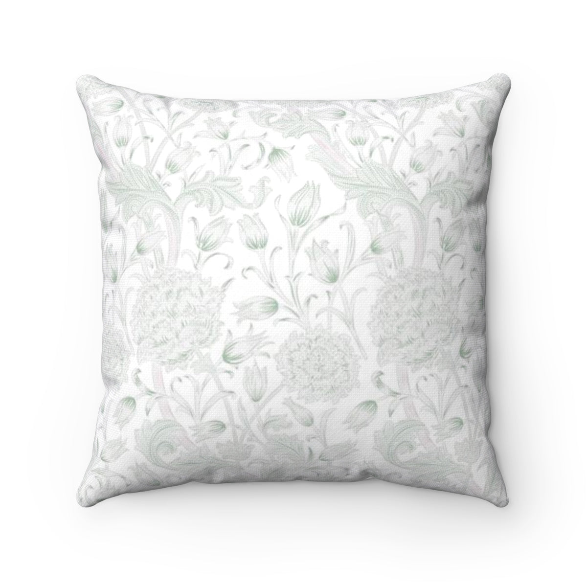 Green pattern decorative accent pillow - Liz Kapiloto Art & Design