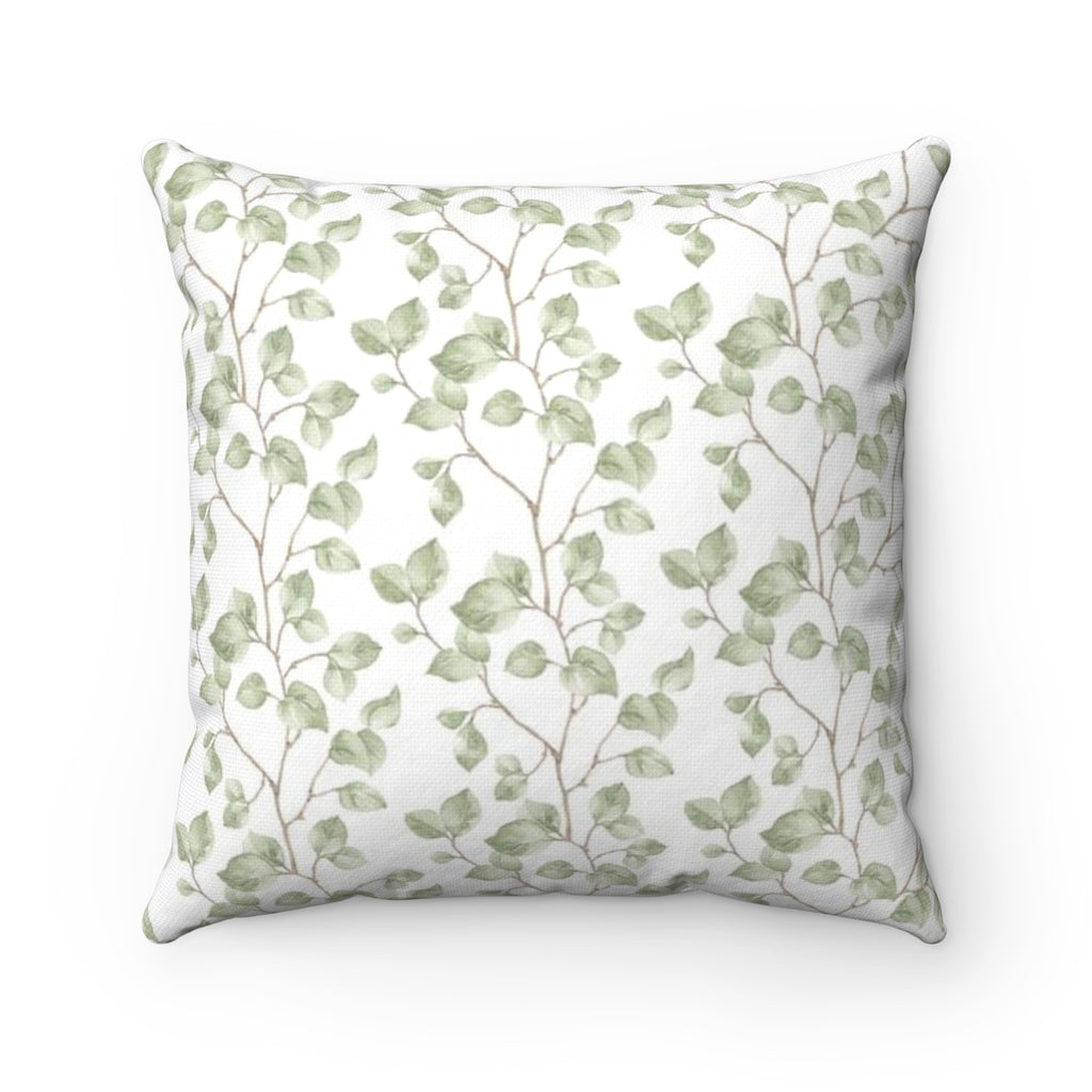 Green pattern Throw Pillow - Liz Kapiloto Art & Design