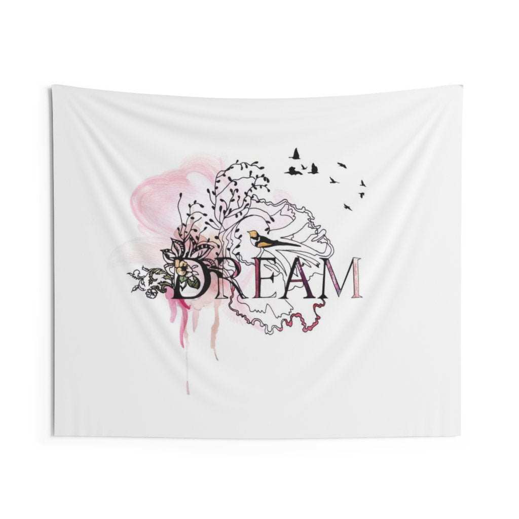 Dream wall tapestryb hanging with purple colors - Liz Kapiloto Art & Design