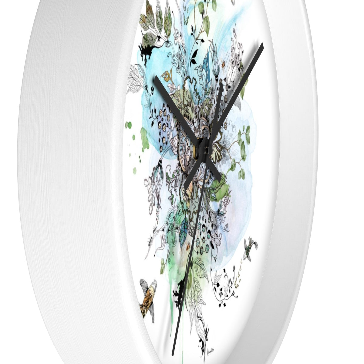 Swimming Fish Wall Clock - Liz Kapiloto Art & Design