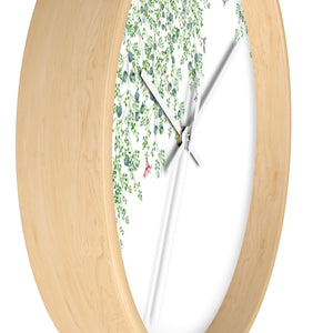 side of wood wall clock - round