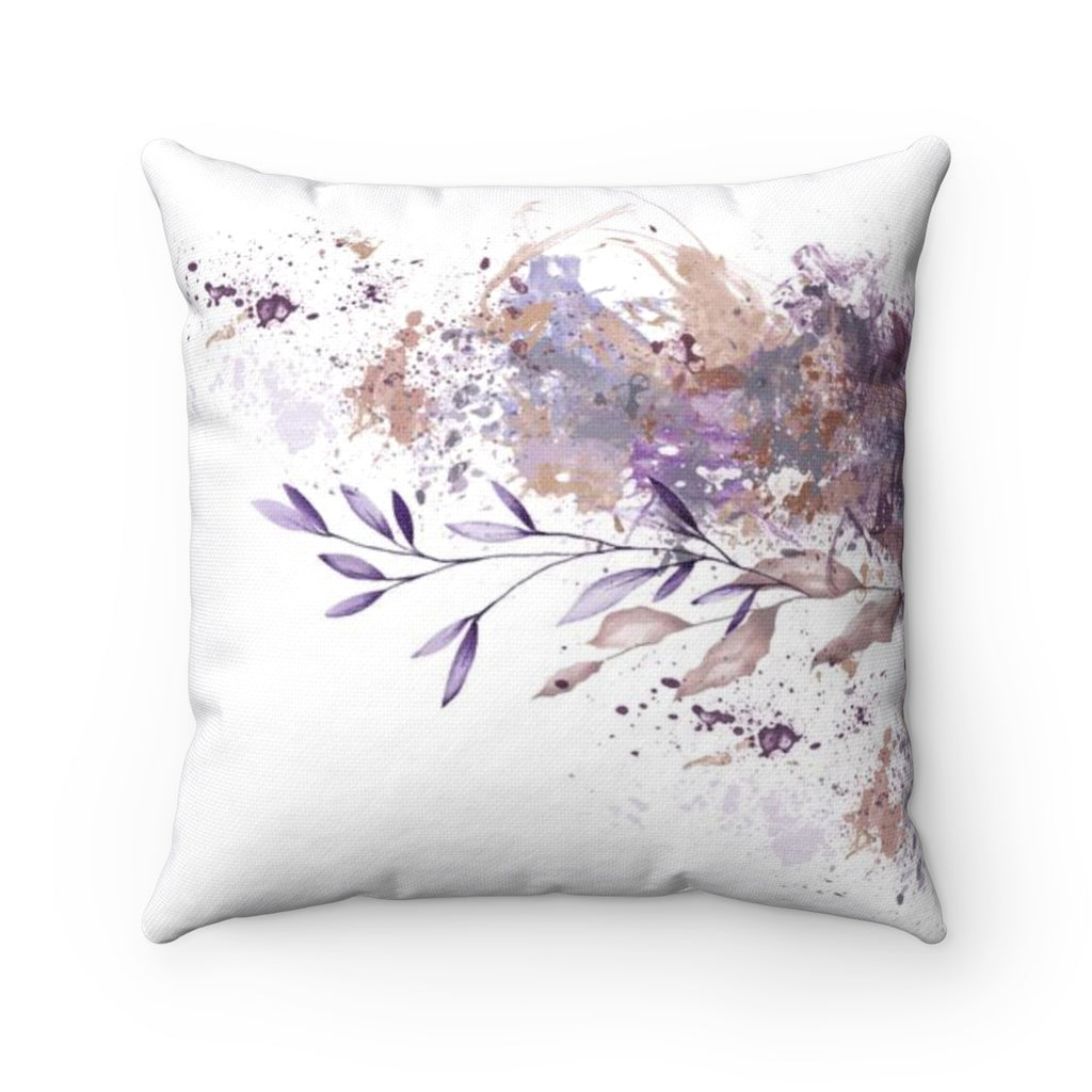 Purple Art Throw Pillow - Liz Kapiloto Art & Design