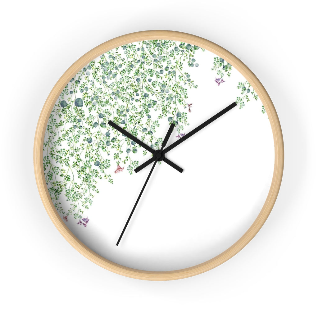 Minimalist Leaves Wall Clock - Liz Kapiloto Art & Design