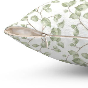 Green leaf accent pillow - Liz Kapiloto Art & Design