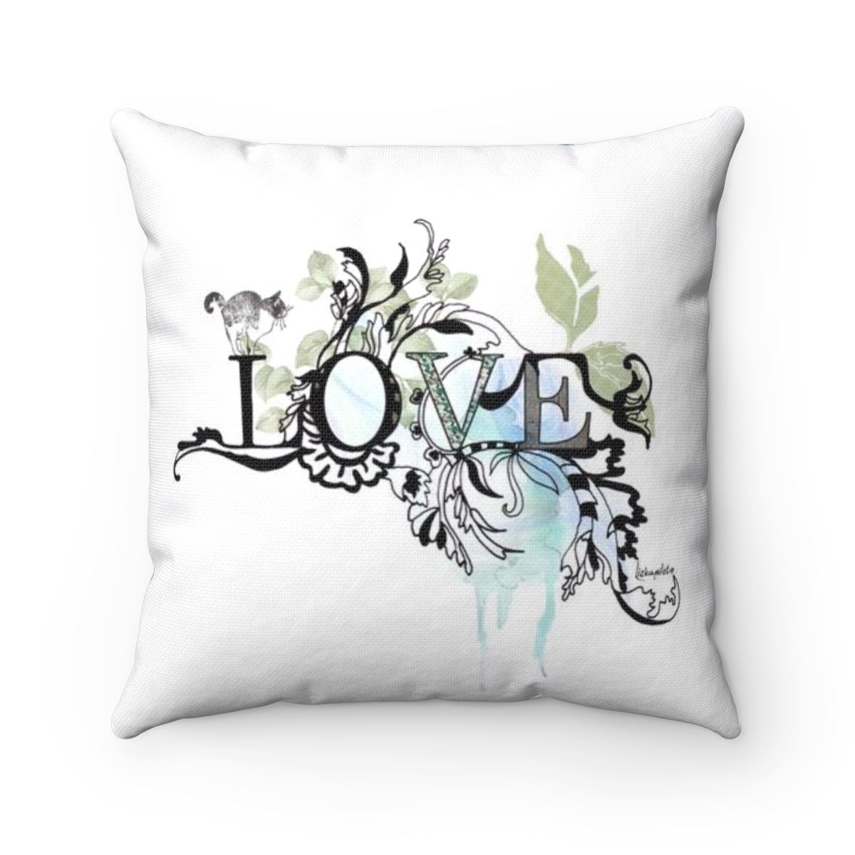 Love Throw Pillow - Liz Kapiloto Art & Design