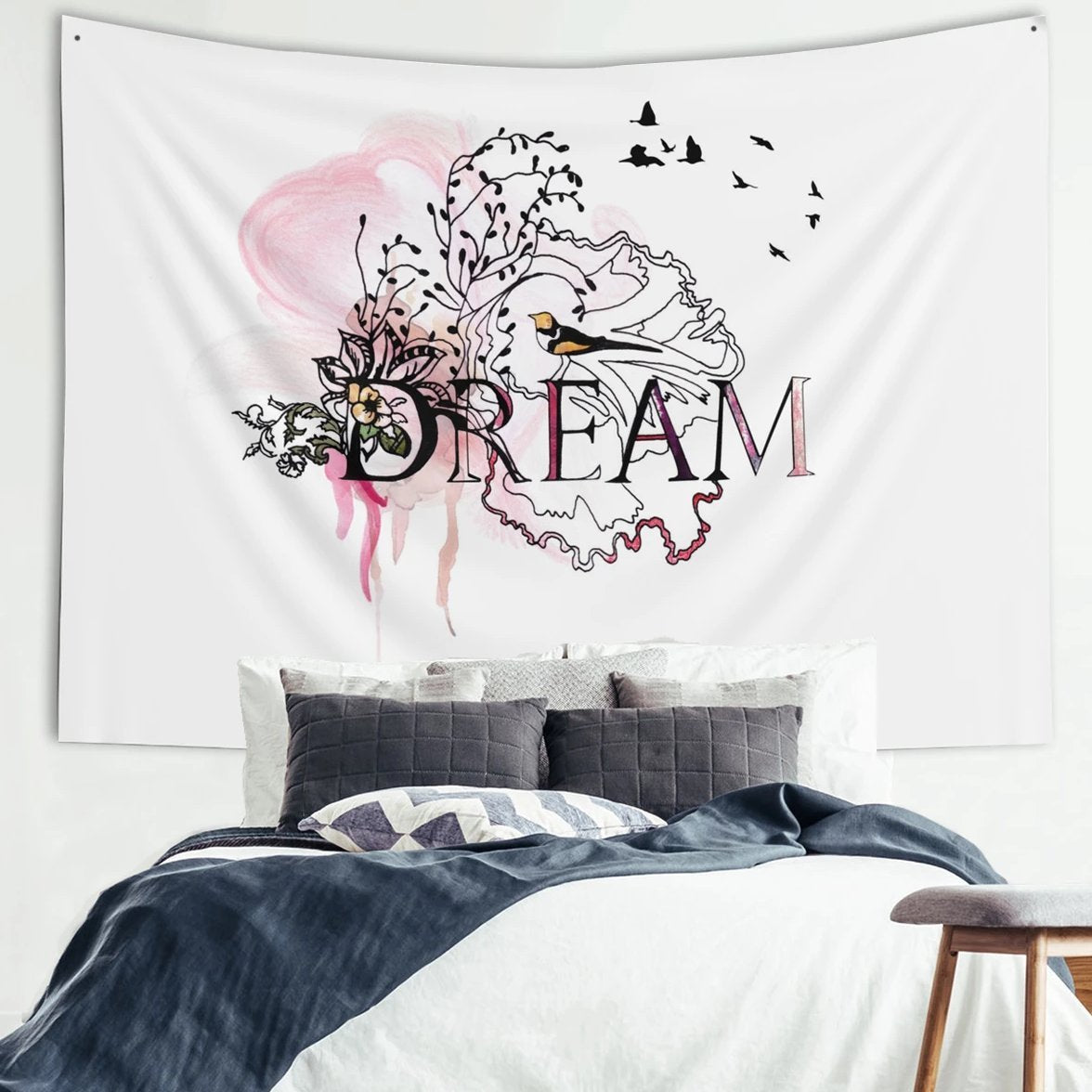 Bedroom tapestry, Dream wall tapestry - Liz Kapiloto Art & Design