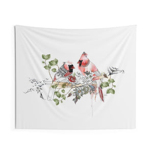 Red cardinal tapestry hanging - Liz Kapiloto Art & Design