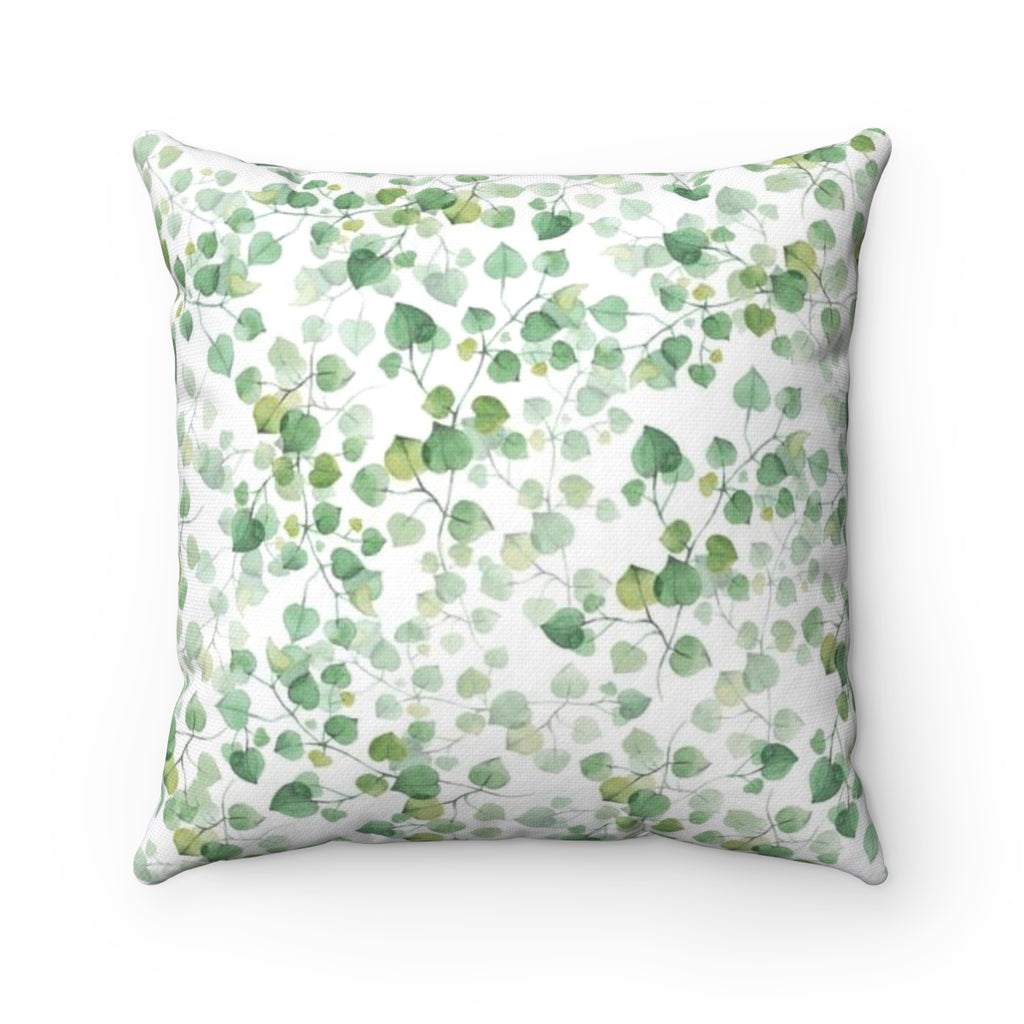 Leaf Pattern Throw Pillow - Liz Kapiloto Art & Design