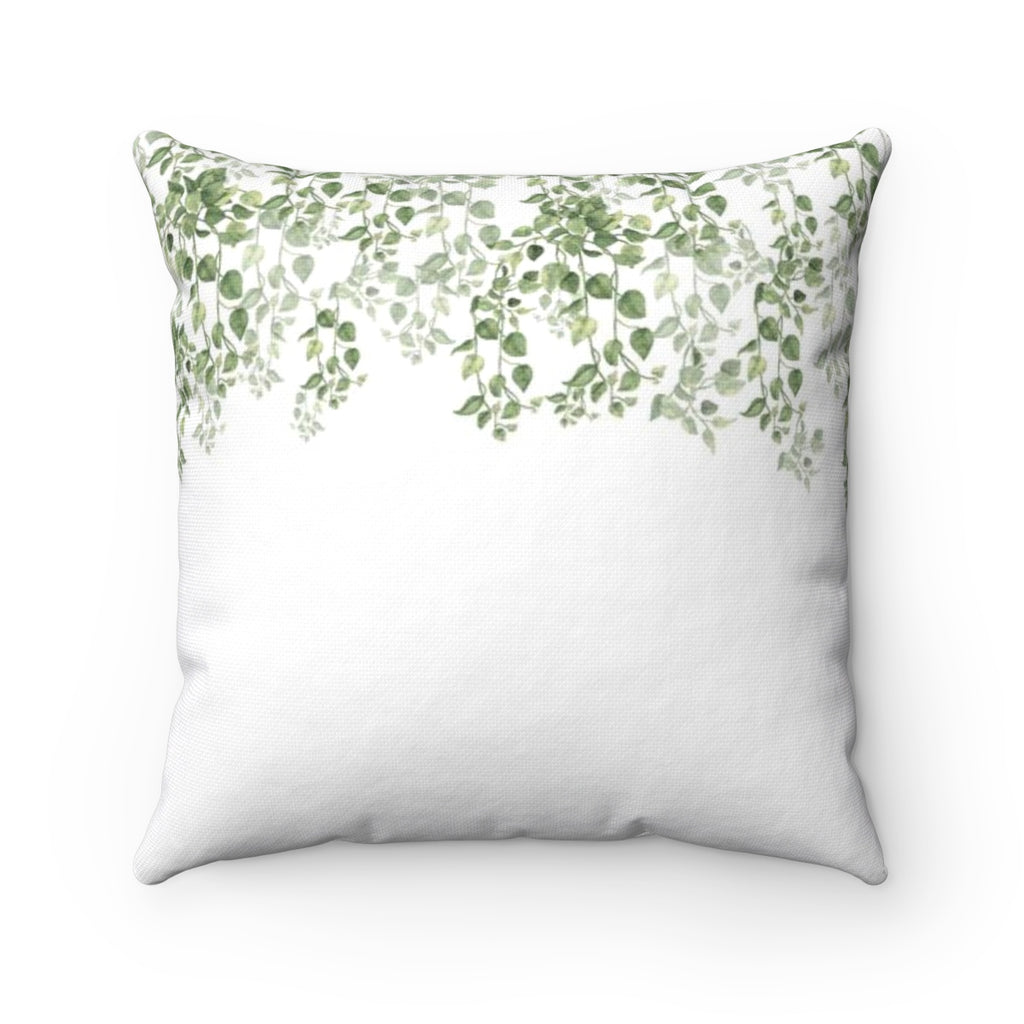 Minimalist Leaves Throw Pillows - Liz Kapiloto Art & Design