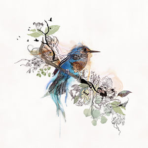 Watercolor Blue Bird Painting - Liz Kapiloto Art & Design