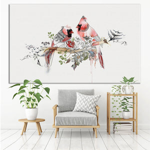 Cardinals - Large Canvas - Liz Kapiloto Art & Design