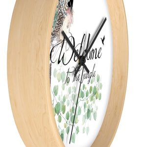 Side view of a wood wall clock- Liz Kapiloto Art & Design