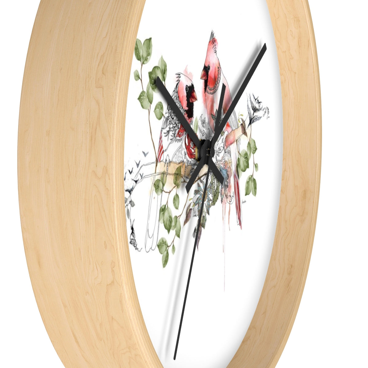 Cardinals Wall Clock - Liz Kapiloto Art & Design