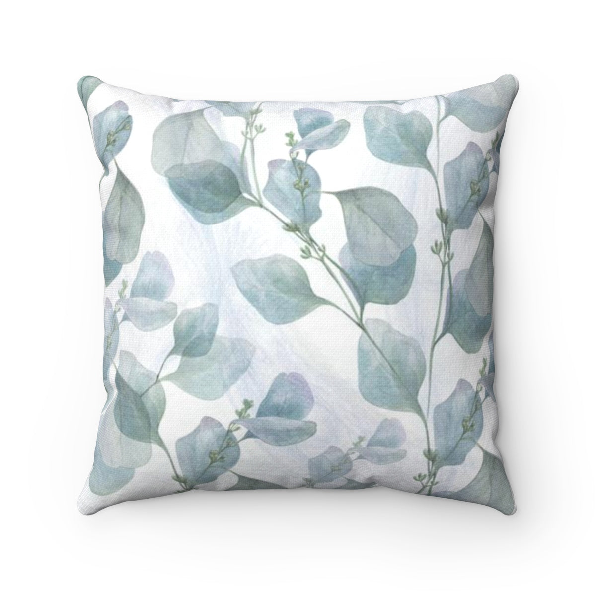 Blue leaf pattern accent pillow - Liz Kapiloto Art & Design