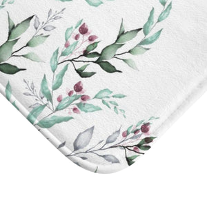 Leves Floral Scandinavian Bath Mat - Liz Kapiloto Art & Design