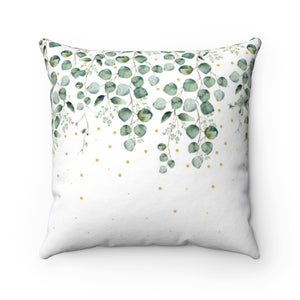 Leaves Minimalist Throw Pillow - Liz Kapiloto Art & Design
