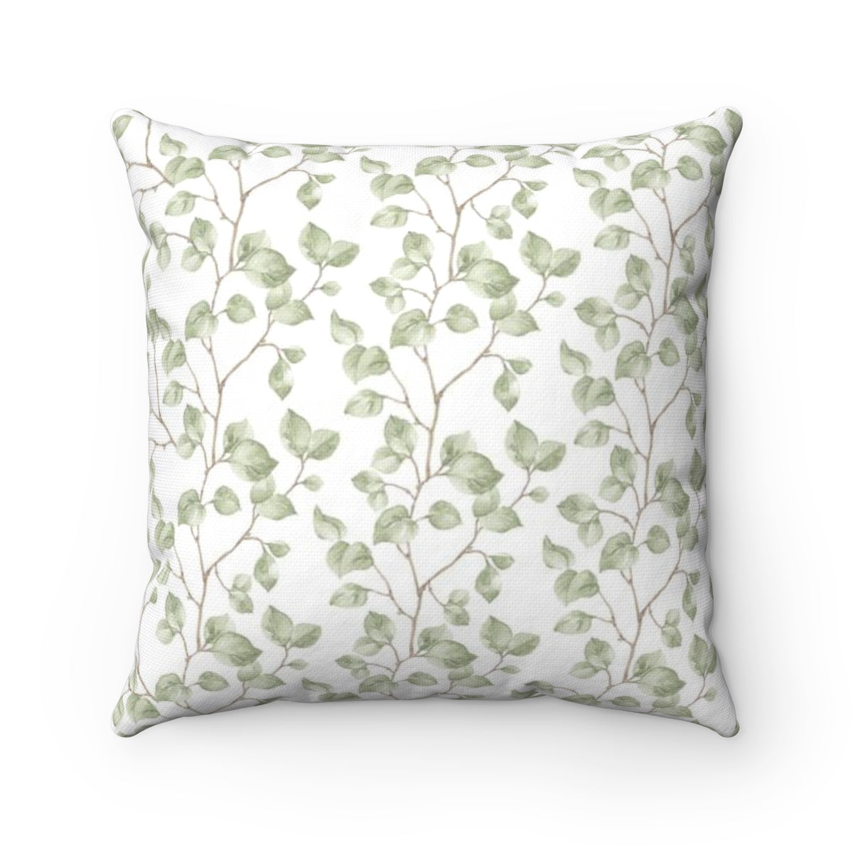 decorative throw pillow with leaf pattern - Liz Kapiloto Art & Design
