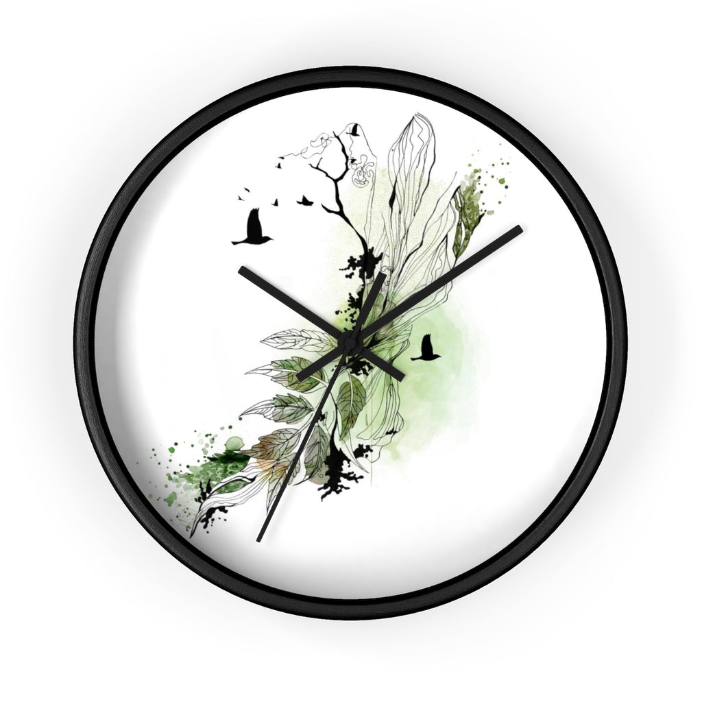 Abstract Leaf Wall Clock - Liz Kapiloto Art & Design