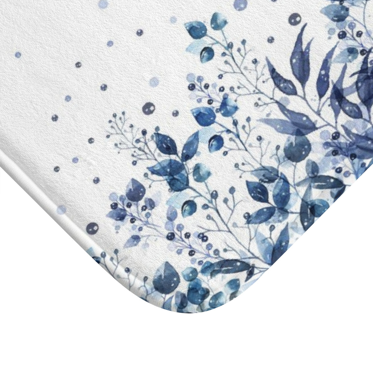 Blue leaf bath rug - Liz Kapiloto Art & Design