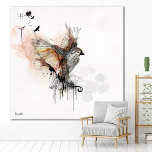 Flying Bird - Large Canvas - Liz Kapiloto Art & Design
