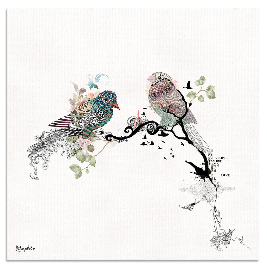 Love Birds Art - Liz Kapiloto Art & Design