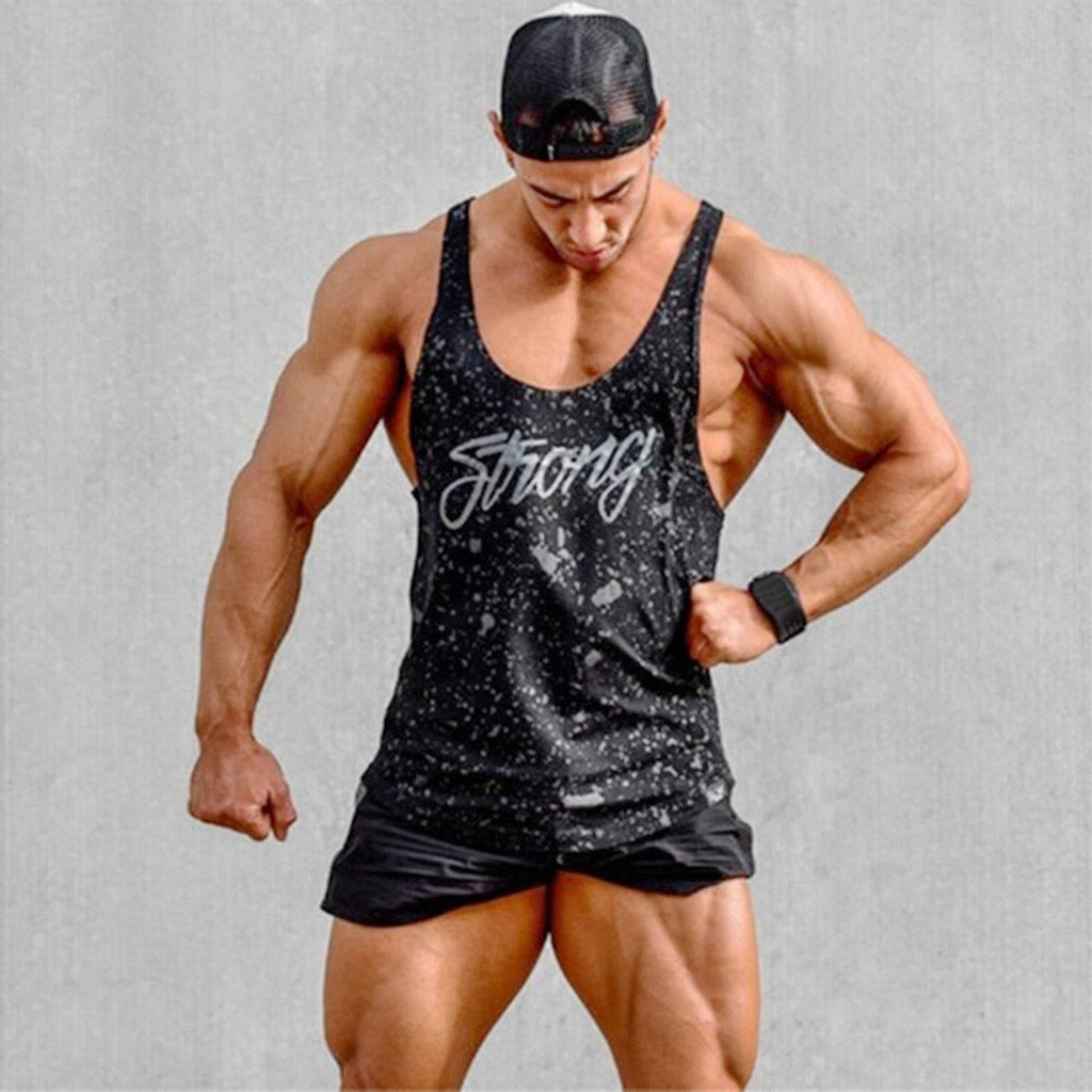 Strong - Men's Bodybuilding Gym Workout Tank Top