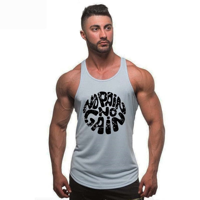 No Pain No Gain - Men's Bodybuilding Gym Workout Tank Top