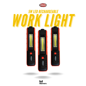 Wallboard 5W Led Rechargeable Work Lamp