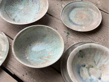 Load image into Gallery viewer, Bowl, matt glaze with deep blue